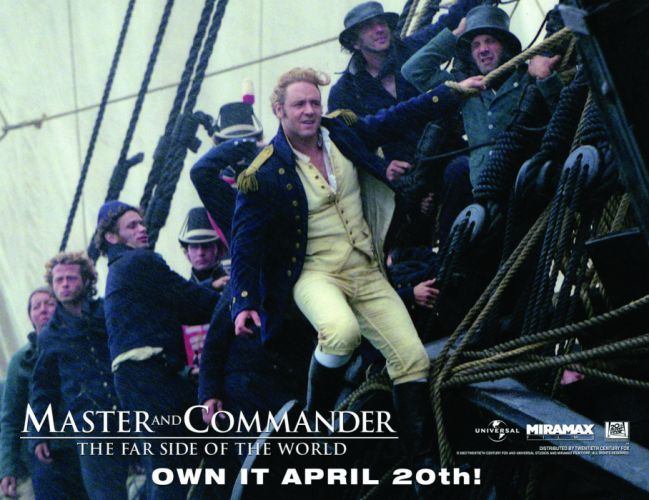 MASTER AND COMMANDER Action Adventure Drama War ship boat poster gs wallpaper
