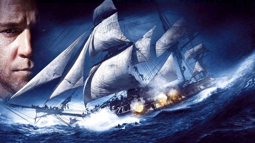 MASTER AND COMMANDER Action Adventure Drama War ship boat storm ocean t wallpaper