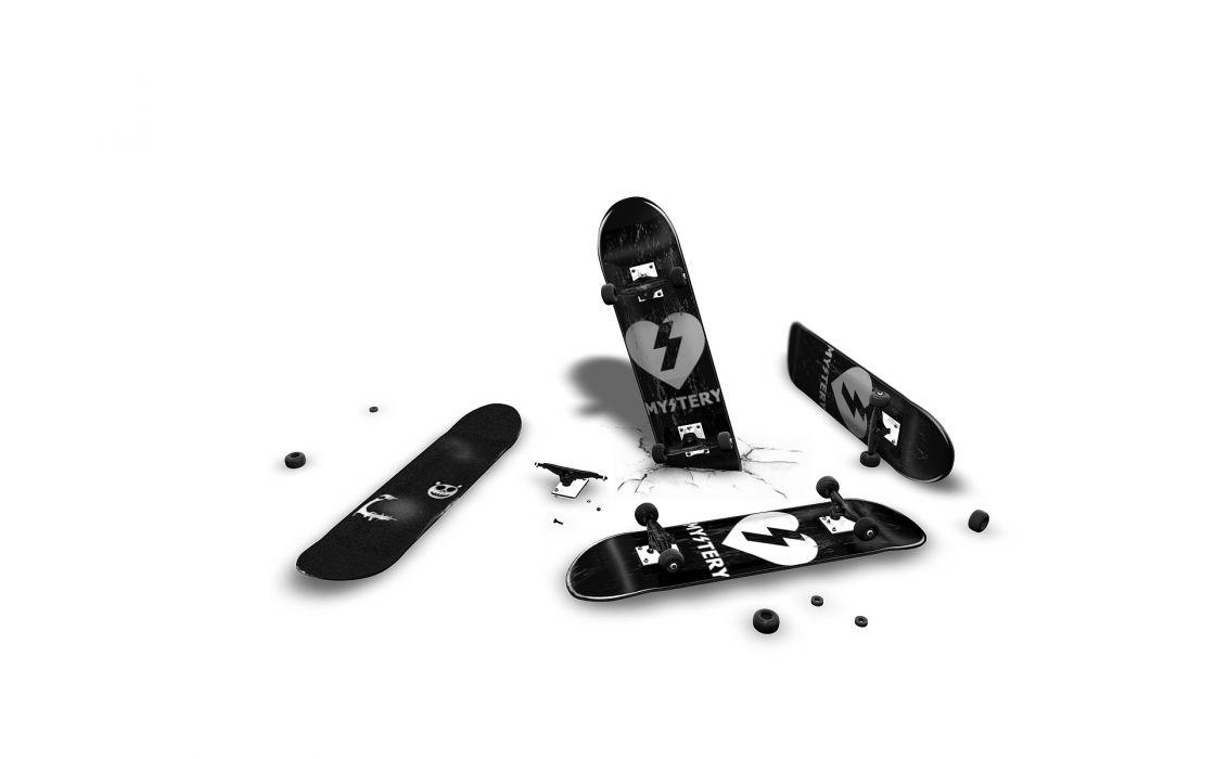 skateboards white background wallpaper
