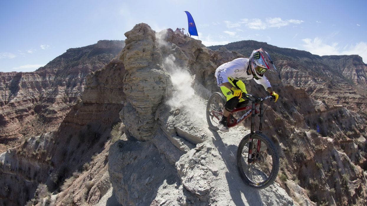 bicycles sports extreme sports Red Bull Red Bull Rampage wallpaper
