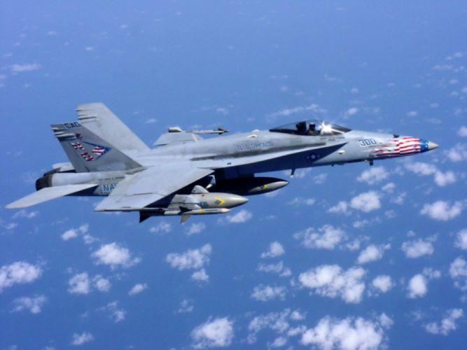 aircraft military FA-18 Hornet F-18 Hornet navy blue wallpaper