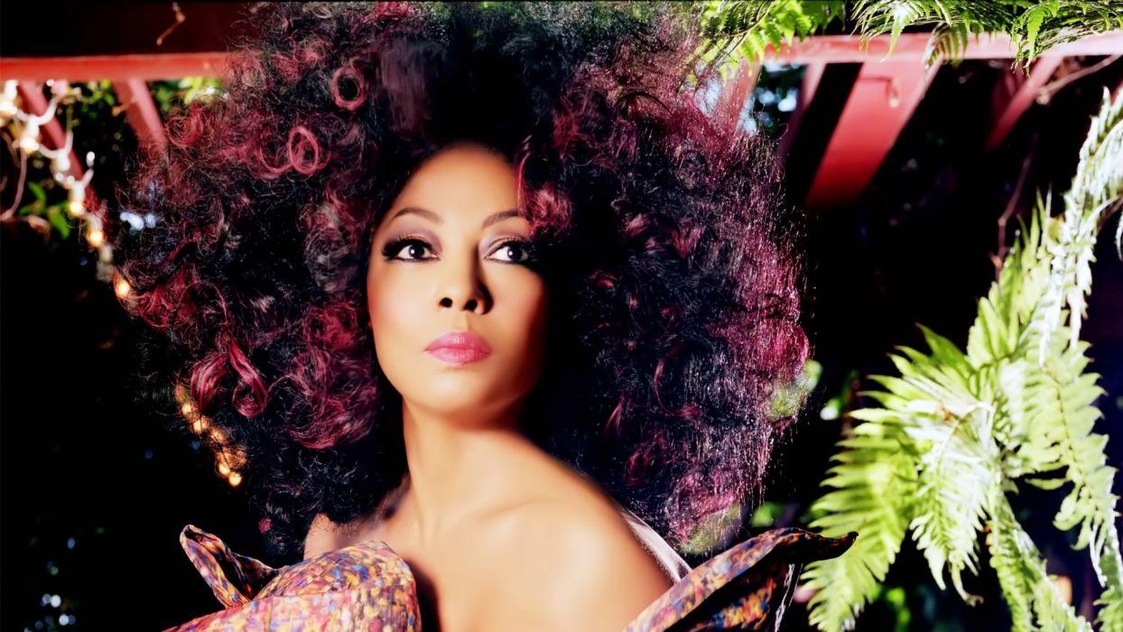 brunettes women celebrity brown eyes afro Diana Ross wallpaper