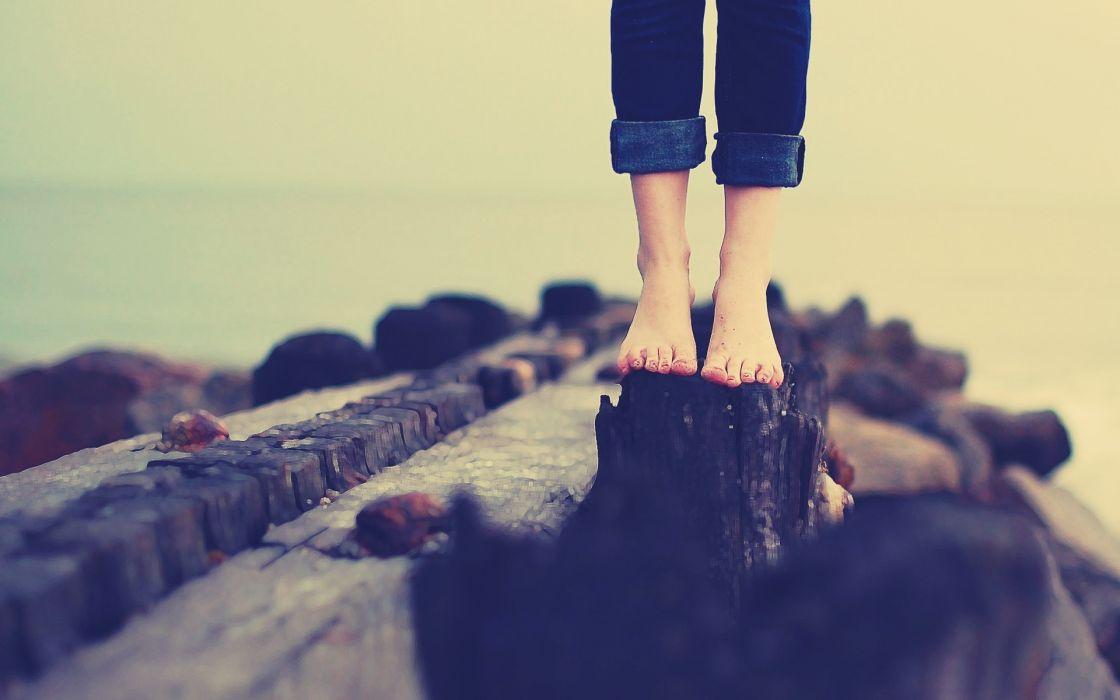 legs women pants feet stones situation wallpaper