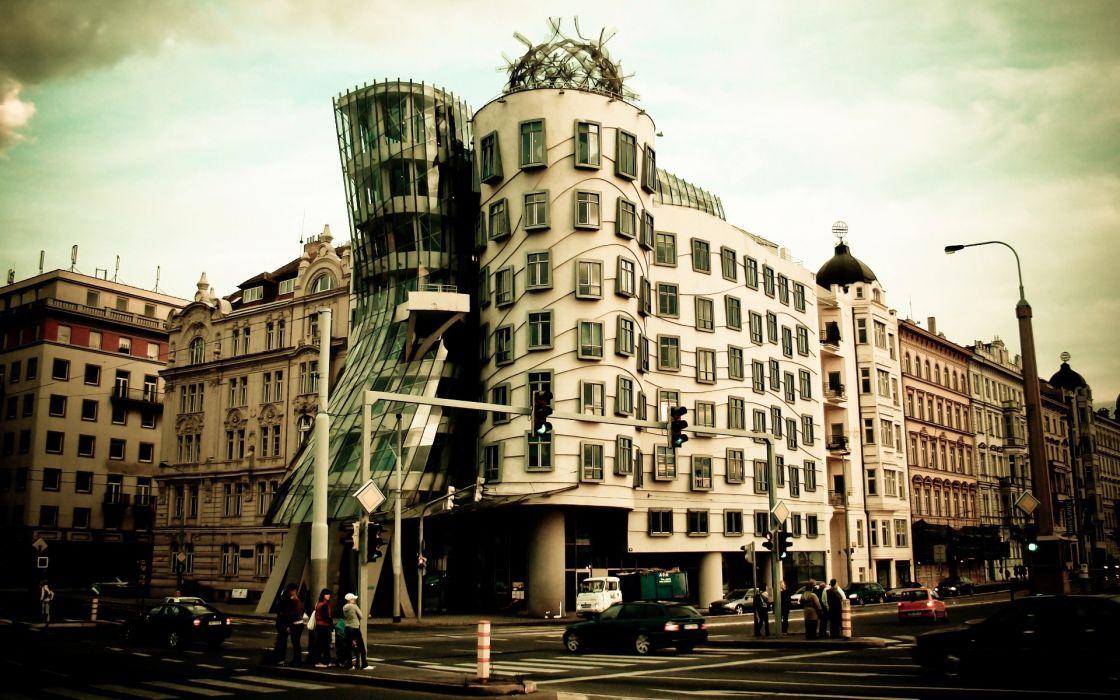 architecture buildings Prague cities wallpaper