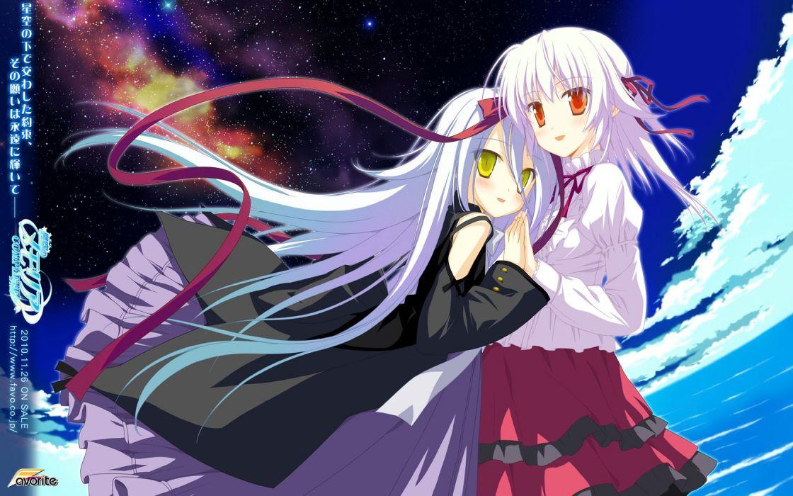 anime white hair wallpaper