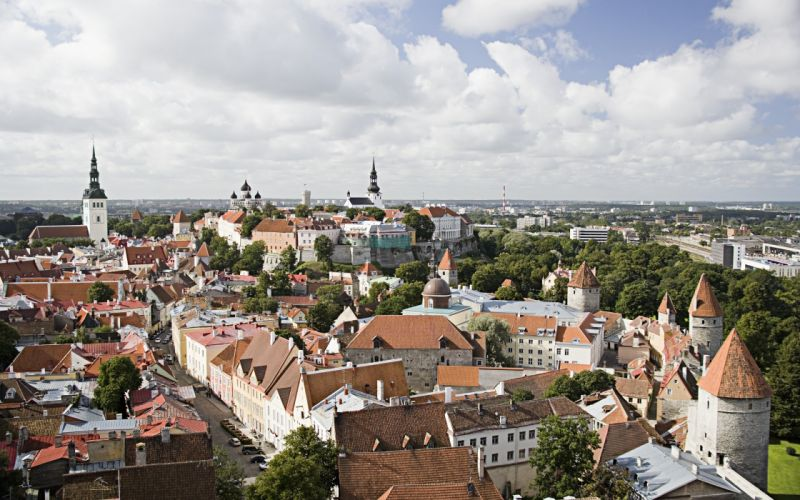 cityscapes architecture Europe Tallinn wallpaper