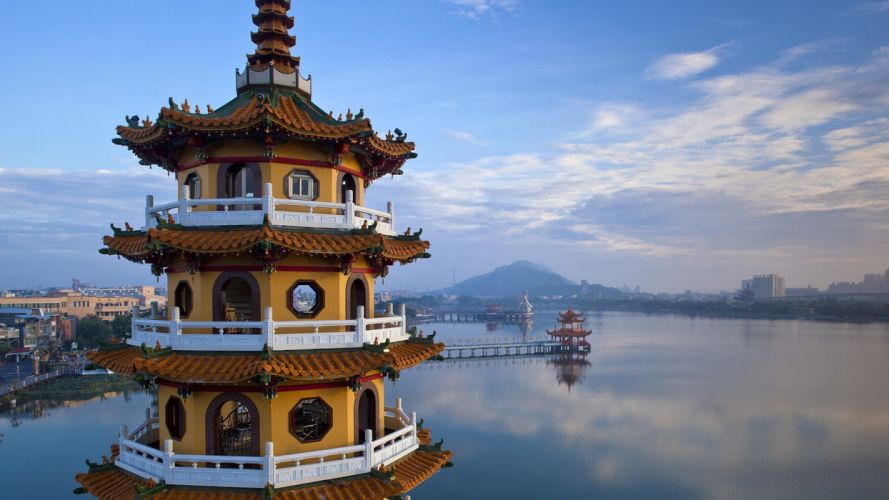 tower Taiwan temples wallpaper