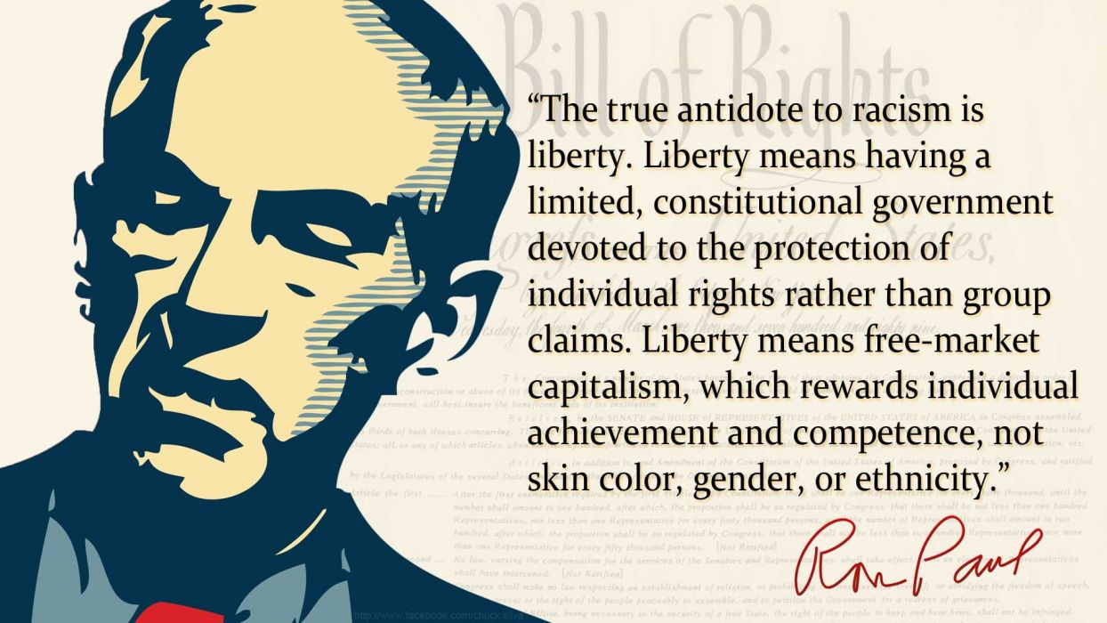 Quotes On Racism Quotes Politics Ron Paul Racism Wallpaper  1920X1080  203155