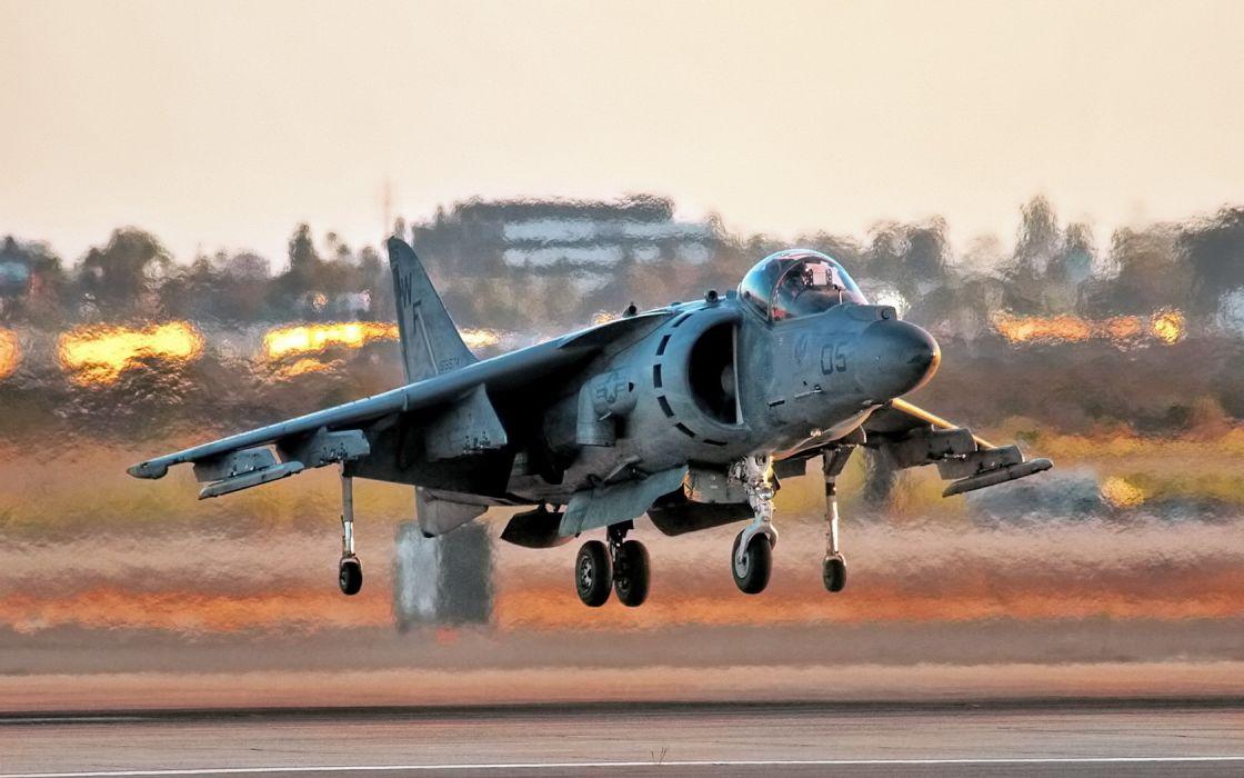 aircraft AV-8B Harrier hover Harrier Jet wallpaper
