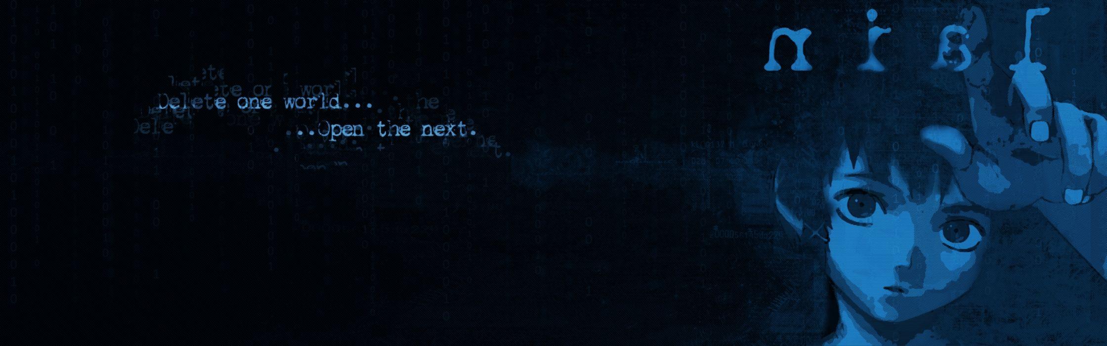 blue text Serial Experiments Lain Iwakura Lain anime anime girls wallpaper