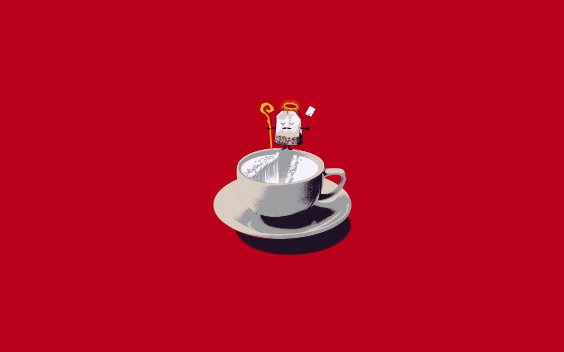 minimalistic tea funny Threadless wallpaper