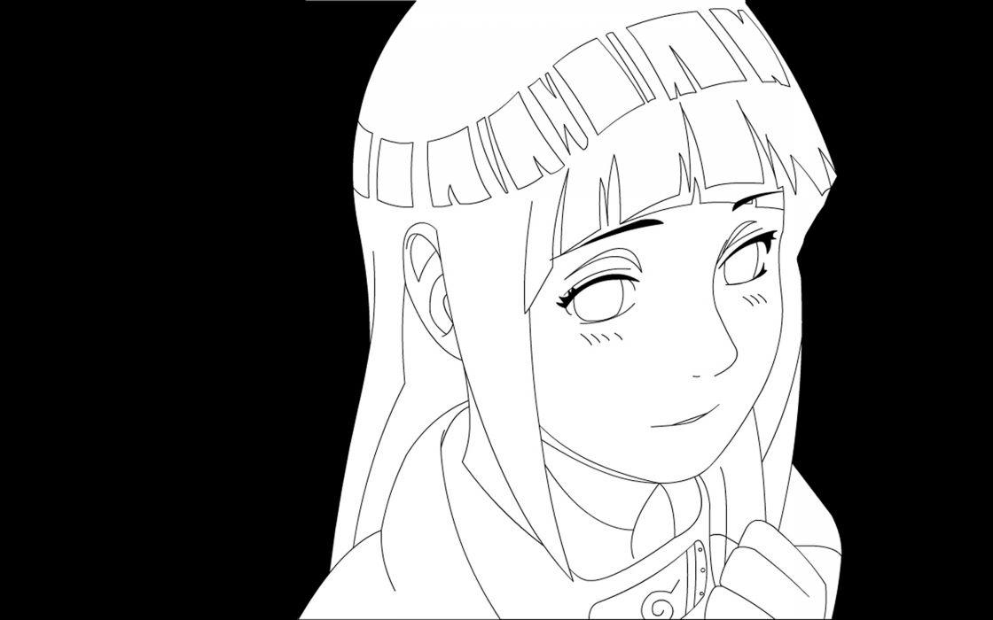 Naruto: Shippuden Hyuuga Hinata simple background wallpaper