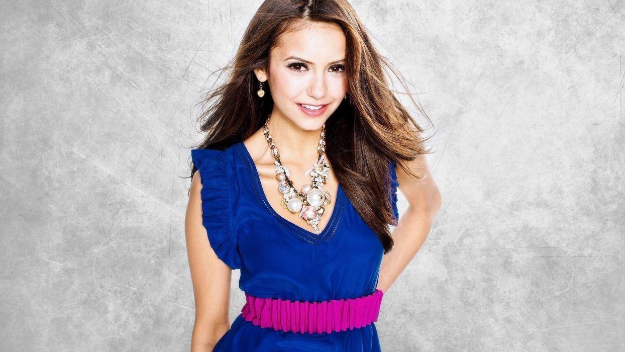 brunettes women dress actress Nina Dobrev wallpaper