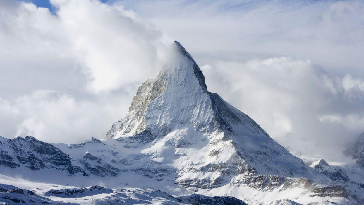 mountains landscapes snow Matterhorn wallpaper