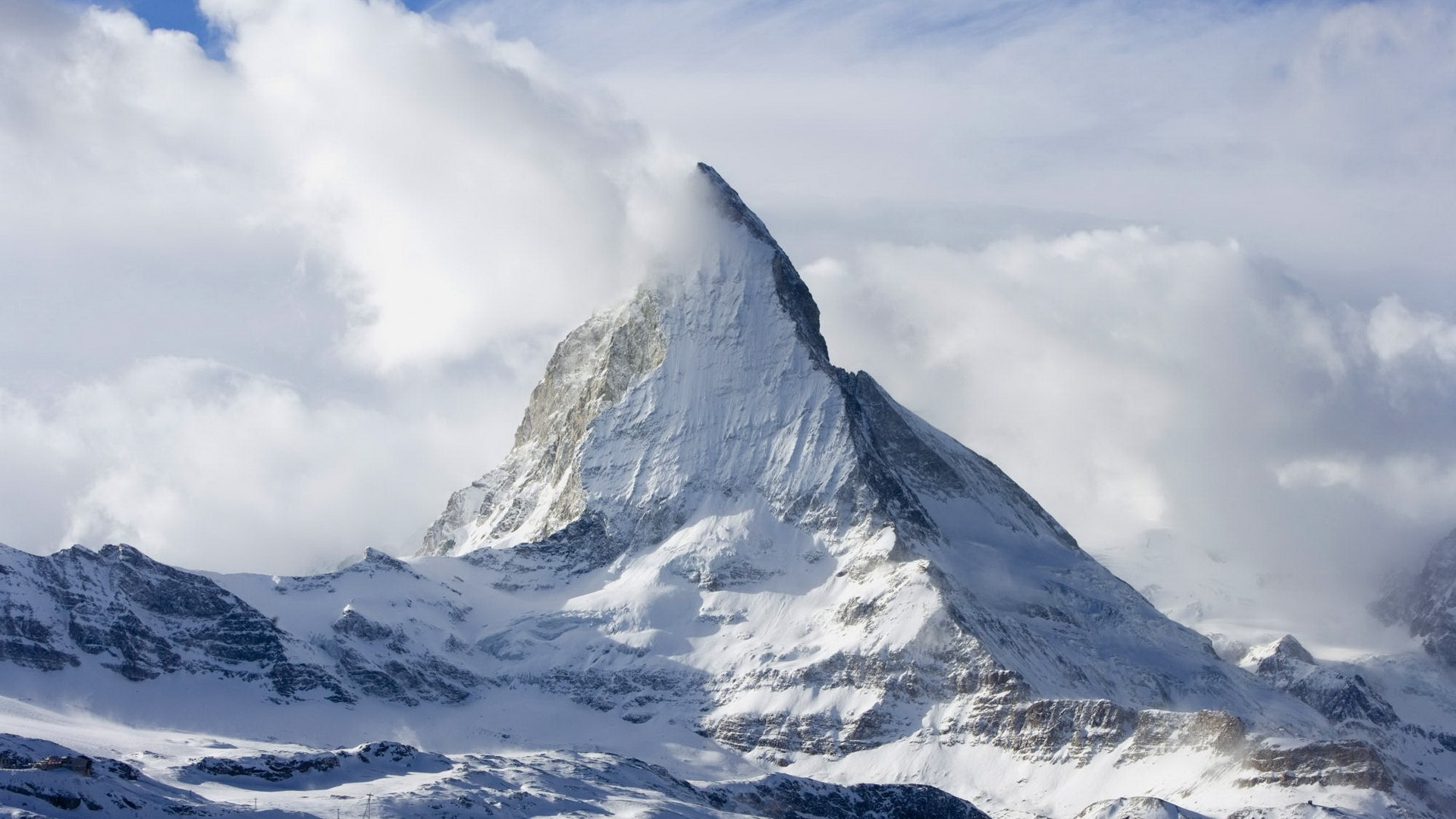 Mountains Landscapes Snow Matterhorn Wallpaper 1920x1080