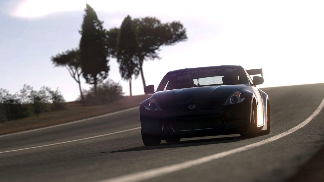video games cars Nissan 370Z Gran Turismo 5 Playstation 3 wallpaper