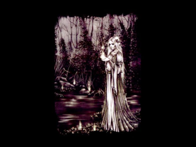 women fairies darkness wallpaper