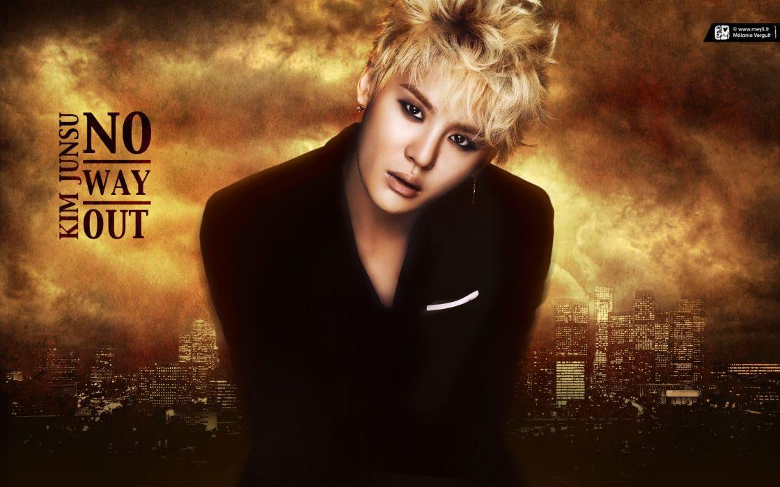 Asians Korean singers K-Pop Kim Junsu wallpaper