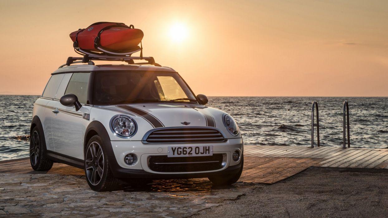 sunset cars clubman Mini wallpaper