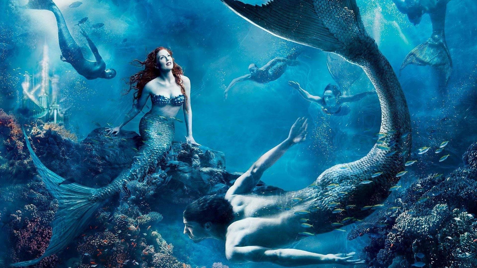 fantasy fantasy art mermaids wallpaper 1920x1080