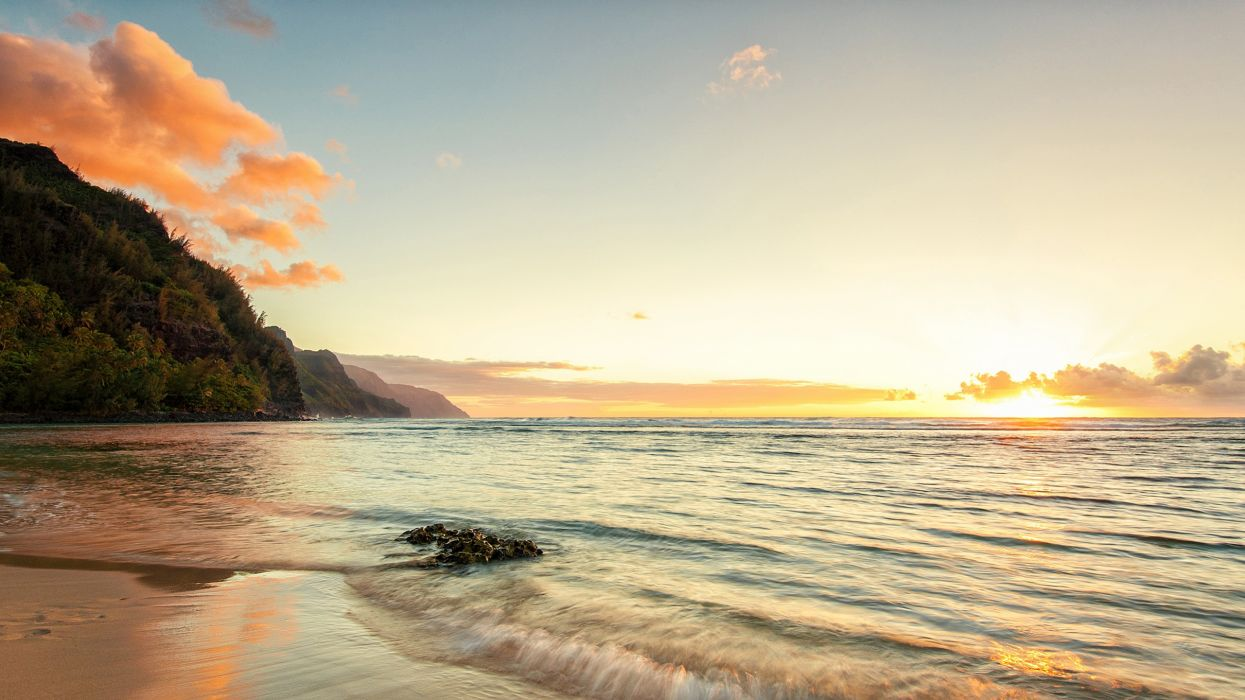 ocean landscapes nature Hawaii kauai beaches wallpaper