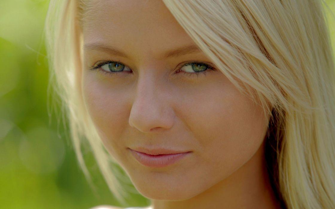 blondes women models outdoors Annely Gerritsen Anneli wallpaper