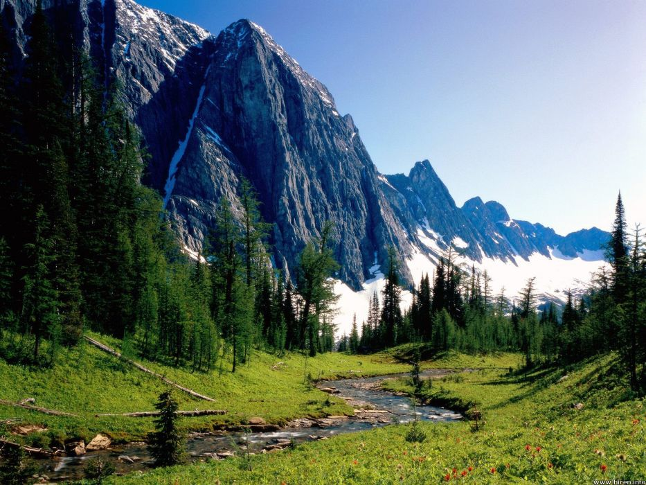 mountains landscapes nature streams wallpaper