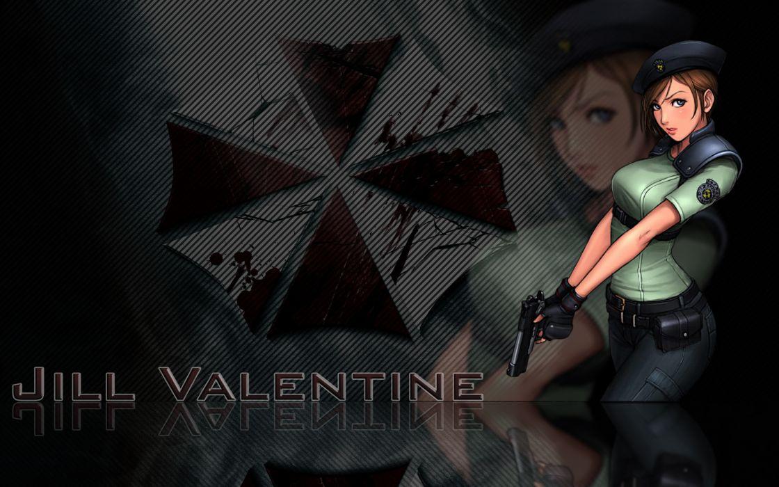 video games Resident Evil Jill Valentine Umbrella Corp_ wallpaper