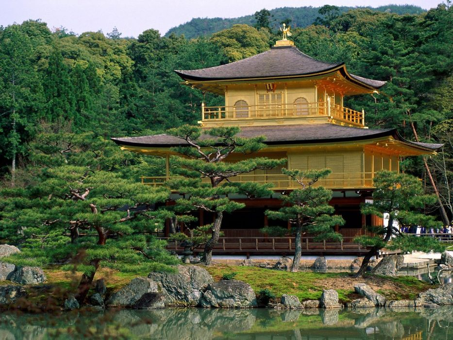 Japan nature buildings Kyoto temples kinkakuji wallpaper