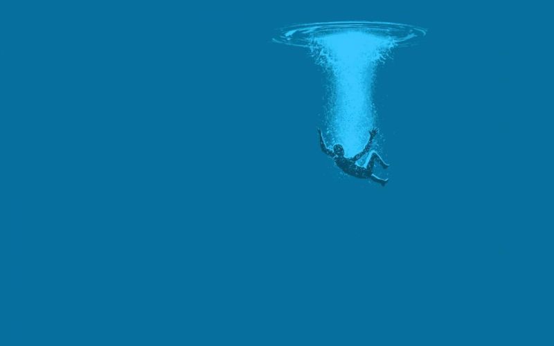water minimalistic underwater wallpaper