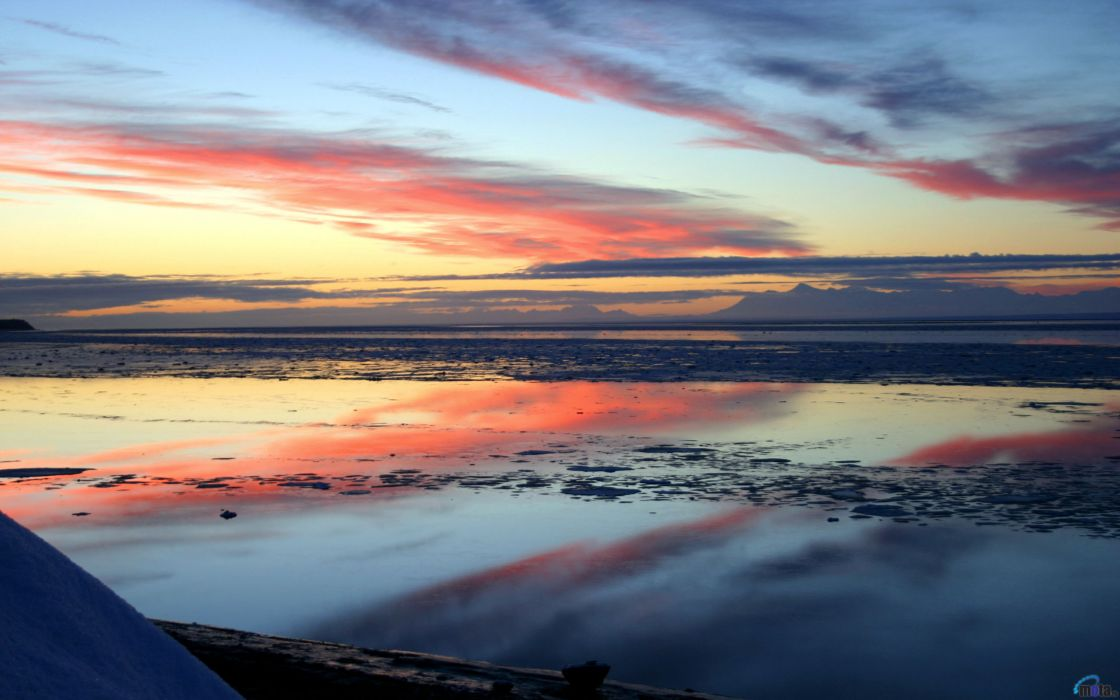 sunset skyscapes sea wallpaper