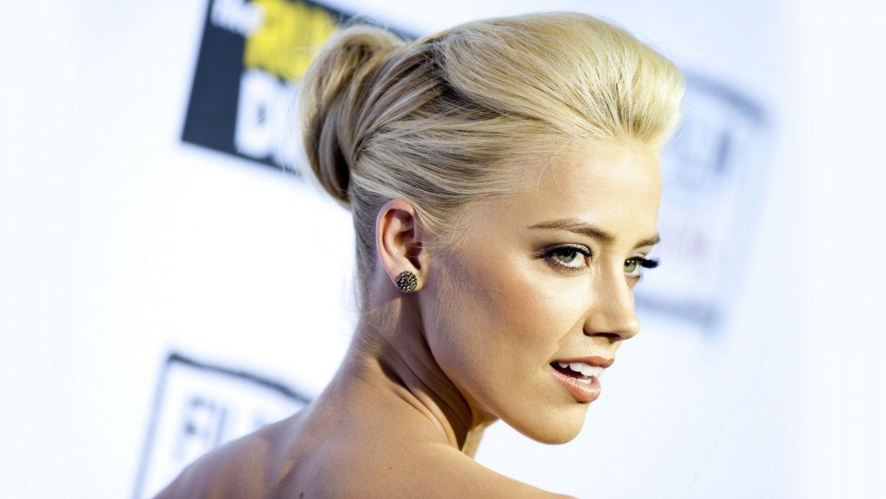 blondes women actress celebrity green eyes Amber Heard wallpaper