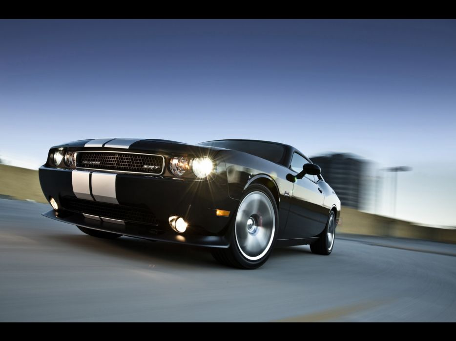 cars front Dodge Challenger Dodge Challenger SRT8 wallpaper