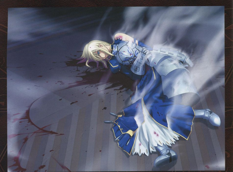 Fate/Stay Night artbook artwork characters Saber  scans Fate series wallpaper