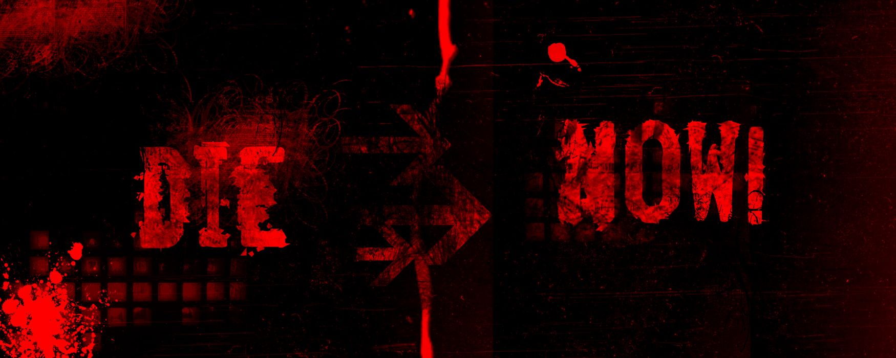 abstract red blood typography die wallpaper