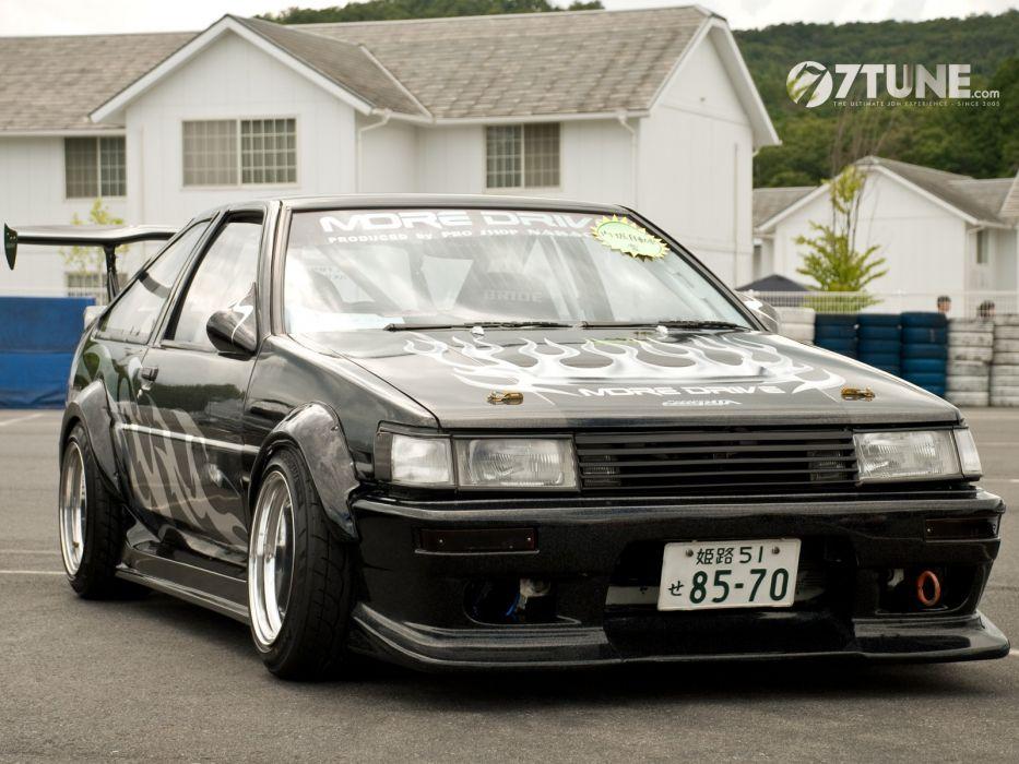 cars Toyota drive black cars AE86 tuned car Japanese cars jdm wallpaper