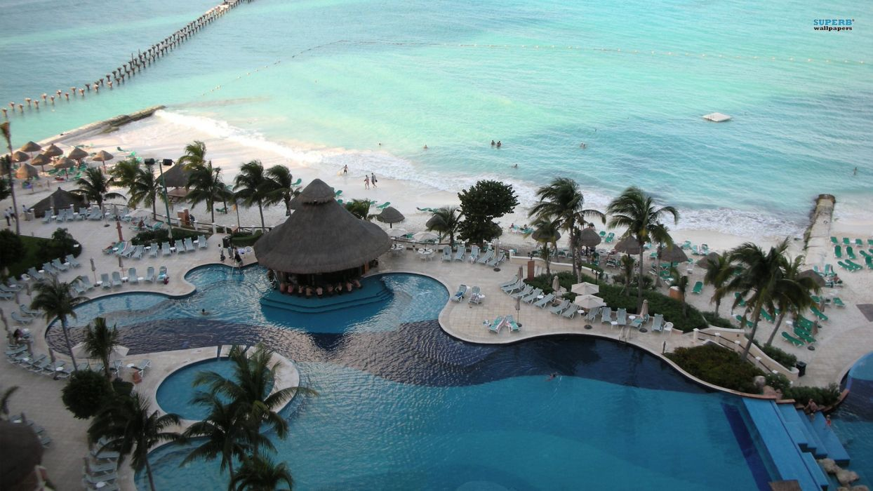 summer Cancun beaches wallpaper