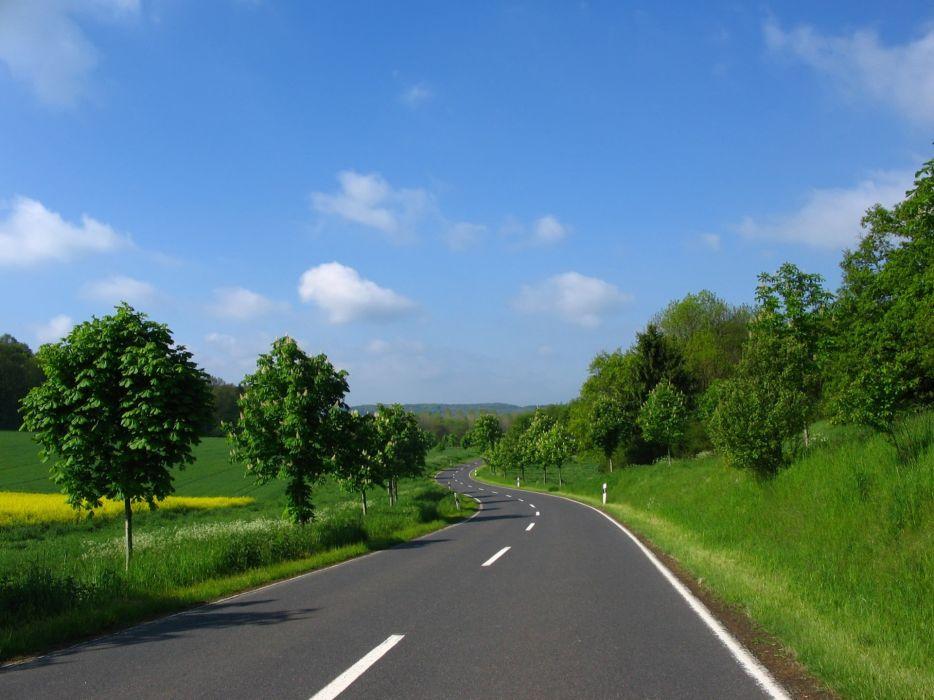 Nature Roads Wallpaper