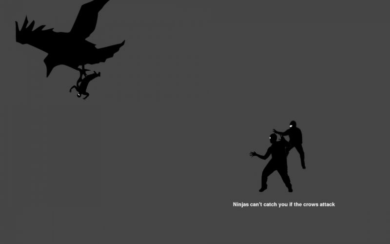 ninjas cant catch you if crows wallpaper