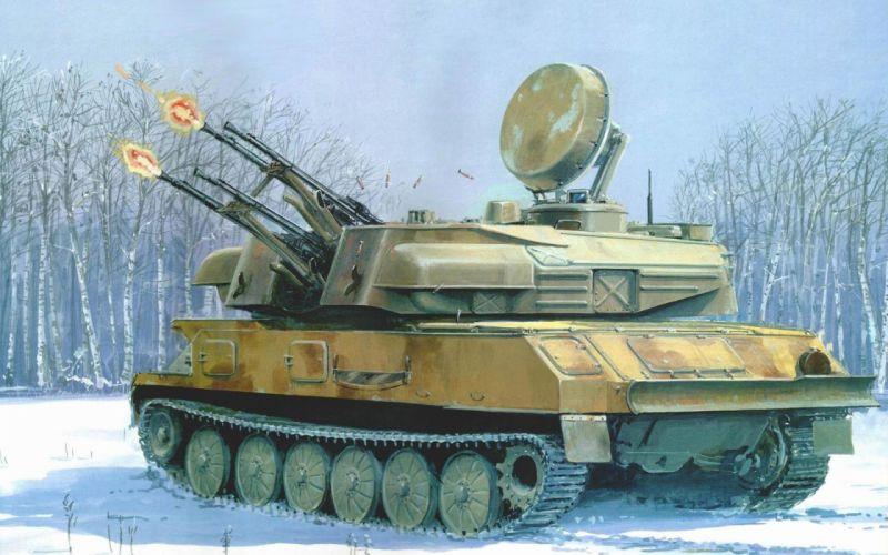 war military tanks zsu-23-4 shilka wallpaper