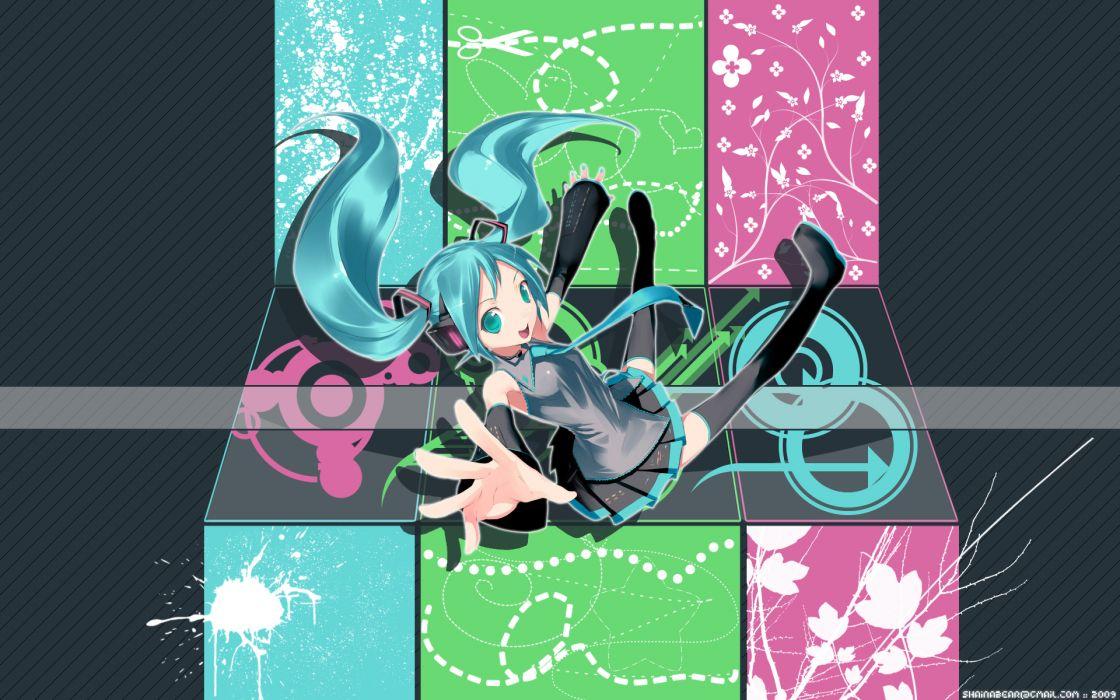 Vocaloid Hatsune Miku tie twintails wallpaper