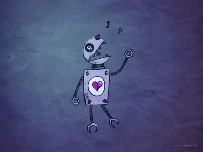 robot hearts wallpaper