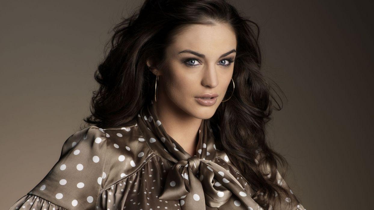brunettes women models Lauren Budd portraits top model wallpaper