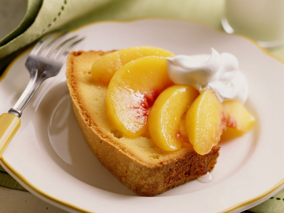 fruits peaches cakes wallpaper