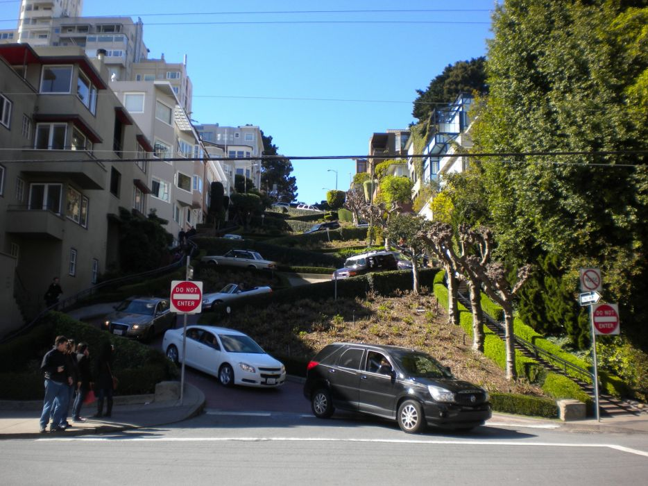 cityscapes streets San Francisco roads wallpaper