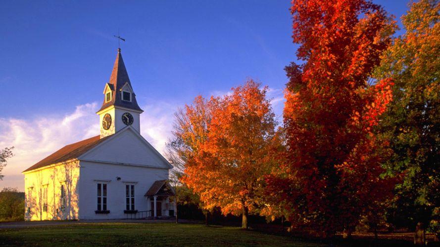 autumn England sugar churches wallpaper