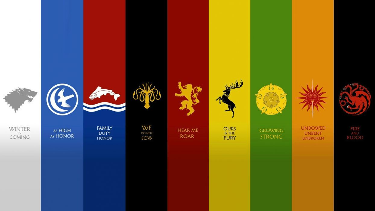 quotes houses fantasy art Game of Thrones emblems A Song of Ice and Fire George R_ R_ Martin House Arryn House Mormont House Greyjoy House Lannister House Stark House Targaryen House Baratheon House Tully wallpaper