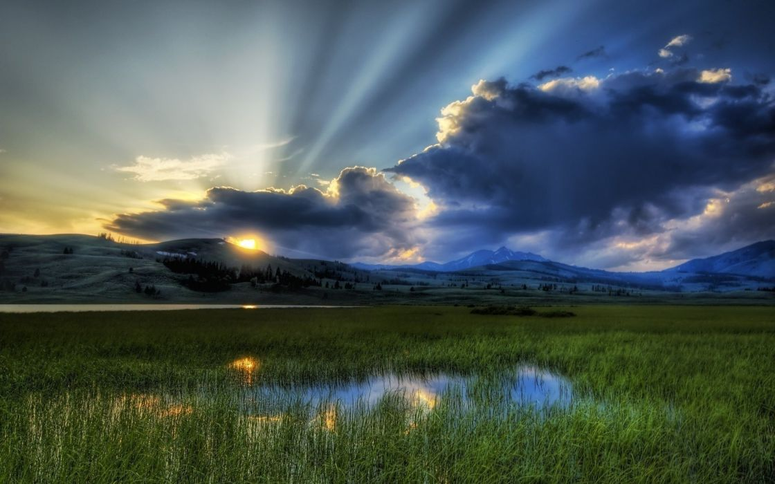 clouds nature fields skyscapes wallpaper