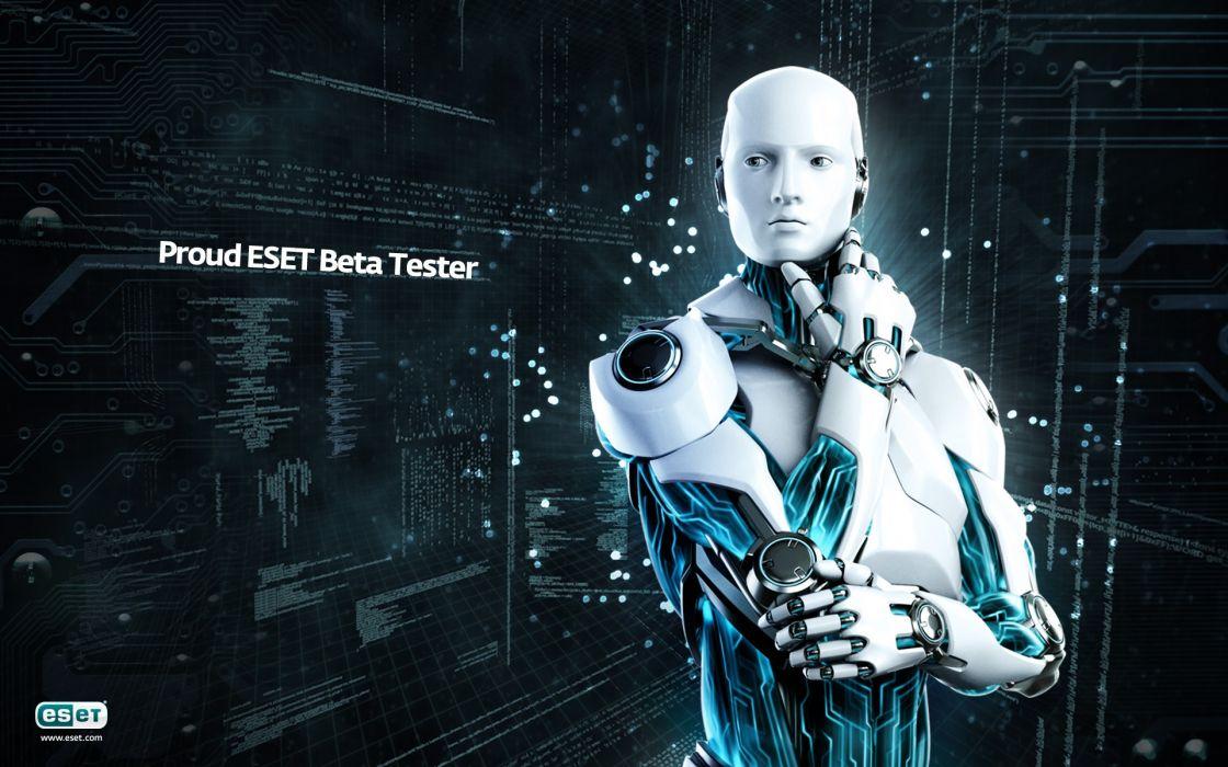 robots technology bot modern think eset softwares wallpaper
