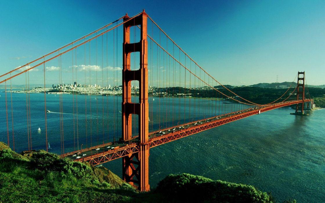 bridges Golden Gate Bridge San Francisco wallpaper